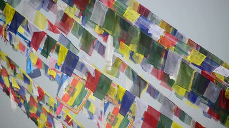 bhutan : Prayer flags in the wind Stock Footage