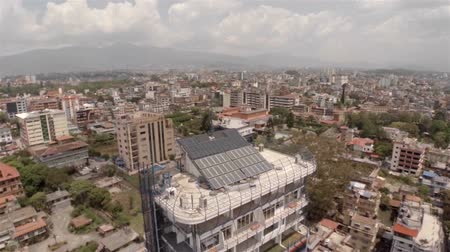 antena : Kathmandu city aerial view in Nepal. Drone footage. Stock Footage