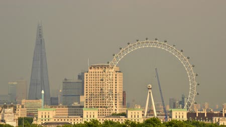 LONDON, UK - CIRCA AUGUST 2013: Timelapse of the London Eye which is the tallest ferris wheel in Europe.
