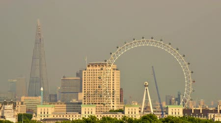 LONDON, UK - CIRCA AUGUST 2013: Cinemagraph of the London Eye which is the tallest ferris wheel in Europe. Stok Video