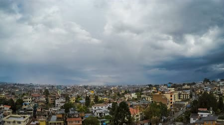 patan : Time-lapse of Kathmandu city as seen from Patan, Nepal