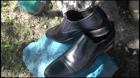 footgear : Mens black shoes