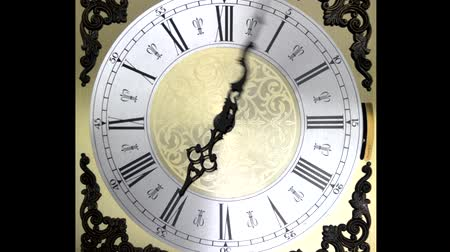 назад : Clock face zoom running backward at speed ornate grandfather time travel