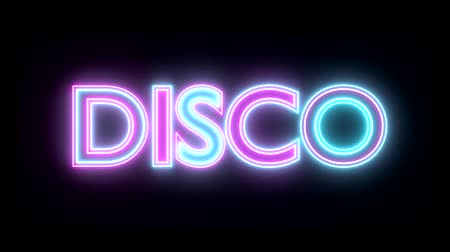 disko : Disco neon sign lights logo text glowing multicolor