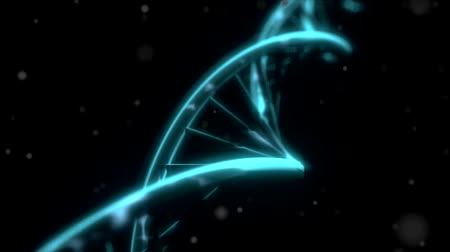 gen : DNA RNA double helix slow tracking shot closeup depth of field DOF