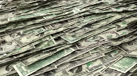Money Piles Stacks of Dollars Financial US Currency Tax Seamless Loop Brighter