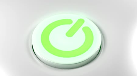 efektywność : Power button switch turn off green