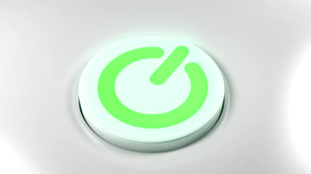 comutar : Power button switch turn on green
