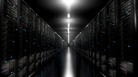 information tecnology : I server dei data center corridoio infinito centro anello scuro