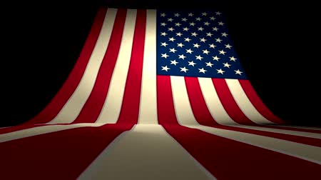 listras : USA US American Flag Curving Upward Stars and Stripes Large Big