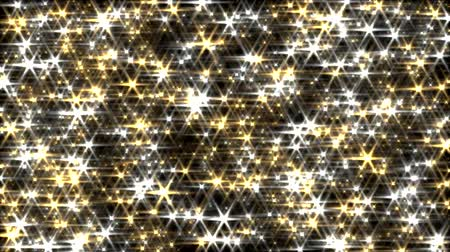 złoto : Glitter background loop gold and silver lens flare sparkle curtain