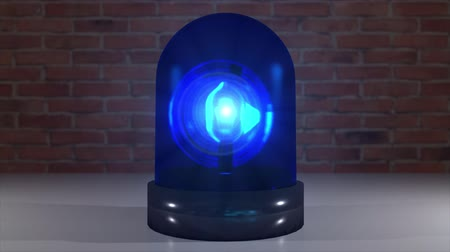 law enforcement : Police light flashing law enforcement hazard siren cops crime car cruiser 4k