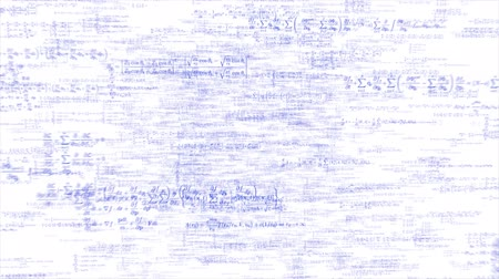 financial : Formulae in blue ink fly through white background 4k Stock Footage