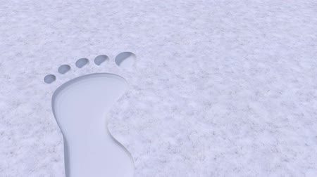 pursue : Foot prints footprints bare barefoot feet in snow 4k