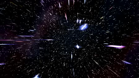 поход : Space warp speed hyperspace travel through starfield nebula 4K