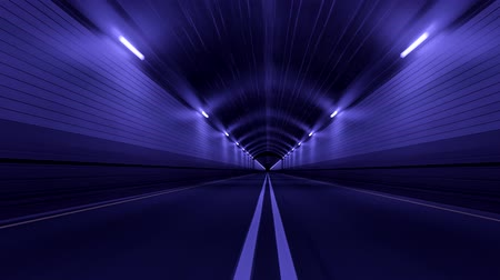 asphalt road : Tunnel Road Driving Fast Endless Seamless Loop 4K