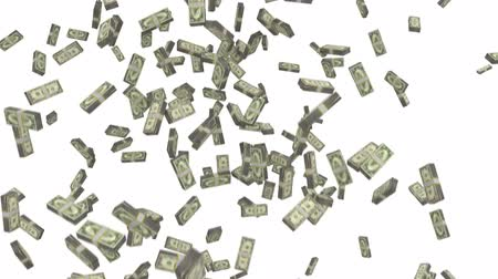 impostos : Money stacks bundles falling dollars financial win US USA American currency tax
