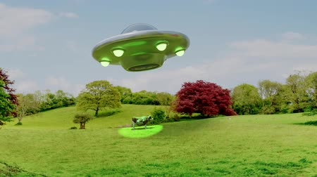 yaratık : UFO alien abduction cow ufo unidentified flying object aliens close encounter 4k
