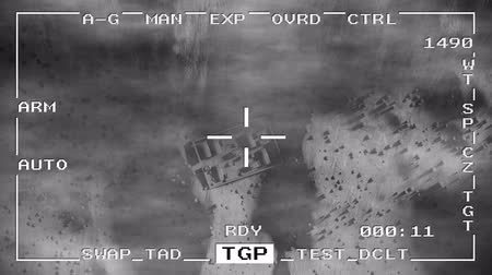donanma : Smart bomb missile drop military drone spy war pov aerial shot falling 4k