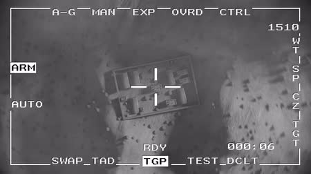 tracking : Smart bomb missile drop military drone spy war pov aerial shot falling 4k
