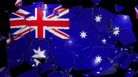 azalan : Australia Australian collapse flag country dollar Aus Oz Aussie Ozzie 4k Stok Video