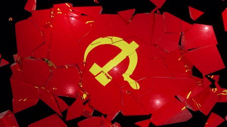 cold war : Communist communism flag russia ussr soviet cold war socialist hammer sickle 4k