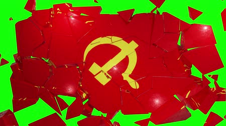 socialist party : Communist communism flag russia ussr soviet cold war socialist hammer sickle 4k