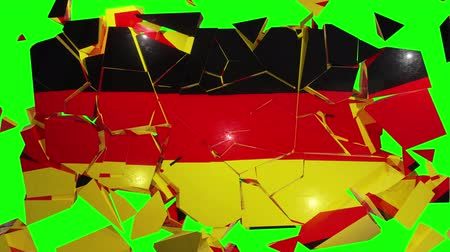 részvények : Germany German collapse flag euro europe european 4k