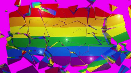 LGBT collapse flag 4k Stock Footage