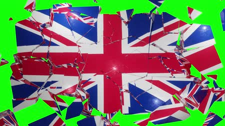 UK collapse flag Great Britain British England English 4k Stock Footage