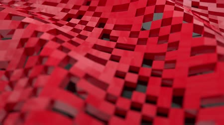 palavras cruzadas : Pixel blocks background game screen 3d plastic digital display voxel Stock Footage