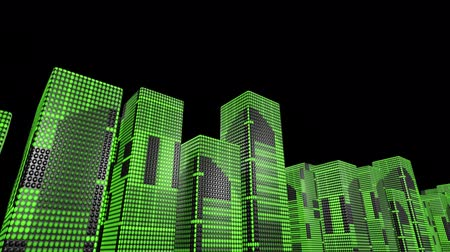 arcada : LED skyscrapers scrolling graphics buildings city 4k Vídeos