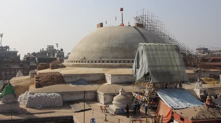 bodhnath : Ruins of stupa Bodnath. Restoration work