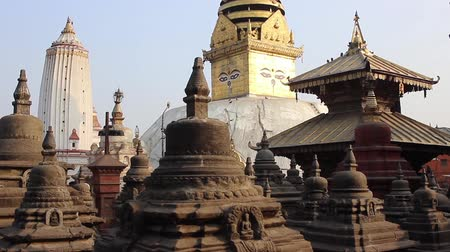 monkey temple : Stupa. Approach by using the slider