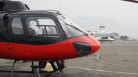 heliport : Nose of the helicopter
