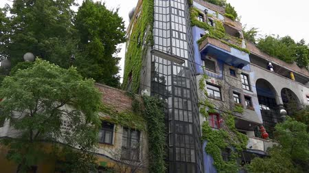 expressionism : Colorful modern architecture of Hundertwasser house