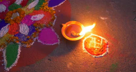 guyana : Burning oil candle on hindu celebrarion