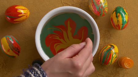 aqueous : Marble - artistic handicrafts Stock Footage