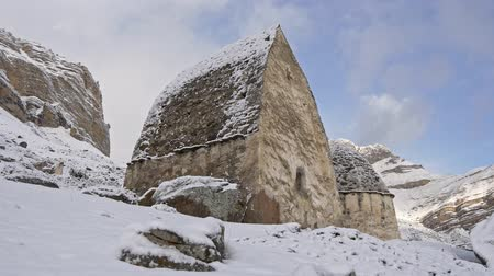 mitologia : Ancient dolmen in winter