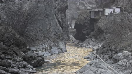 ravina : Mountain river in a narrow gorge