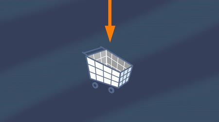 targeted : Mobile app for shoping and navigation with transforming icons