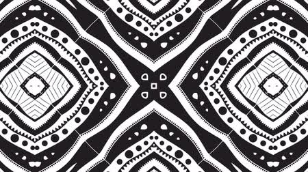zwart wit : Black and White Kaleidoscopic Animation