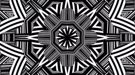 zwart wit : Black and White Kaleidoscope Video Loop
