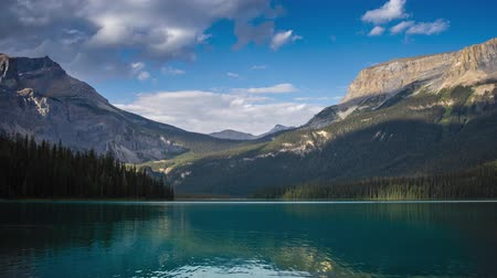 ingiliz columbia : Emerald Lake August evening time lapse