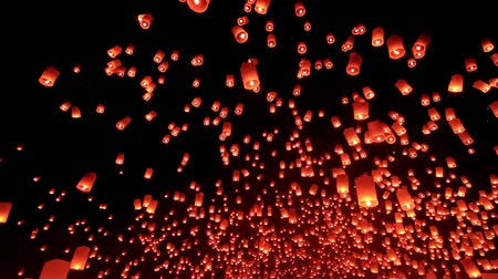 Новый год : Thousand of Thai Sky lantern