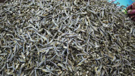 kalcium : A lot of small Dry fish in the market