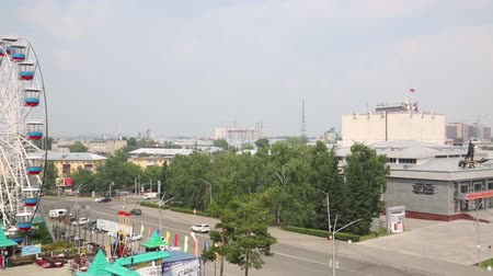observation deck : City Barnaul Russia. View of the city of Barnaul from the observation platform.