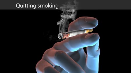 sağlıksız : Stop Smoking 3D Animation Stok Video