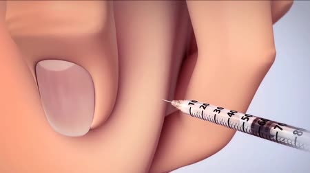 przychodnia : Close up shot of a medical injection Wideo