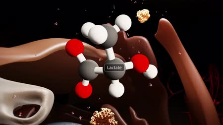 sweetener : Animation of the Lactose molecule Stock Footage